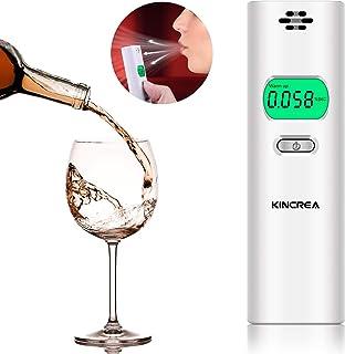 【アルコールチェッカー 携帯用】KINCREA アルコール検知器 簡単操作 お酒 車 飲酒 二日酔い アルコールチェック 父の日 ギフト JR020