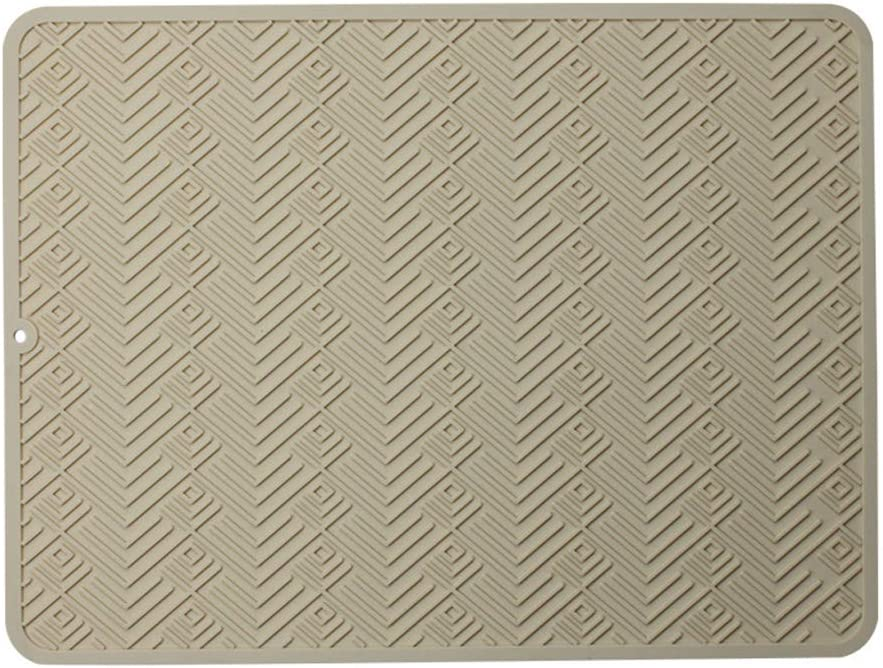 1, 45x30cm TheStriven Alfombrilla Escurreplatos de Silicona Almohadilla de Drenaje Alfombrilla Silicona para Secar Platos Escurreplatos de Silicona Resistente al Calor Antideslizante
