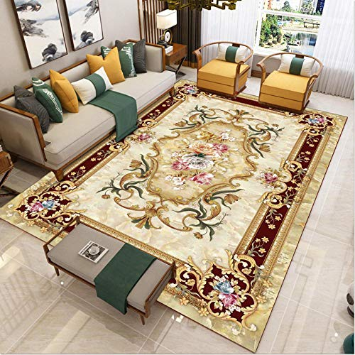 touch Pile Living Room Area Rugs Non Shedding - Family carpets are exquisite ethnic retro country carved quality classic casual heavy-140x200cm