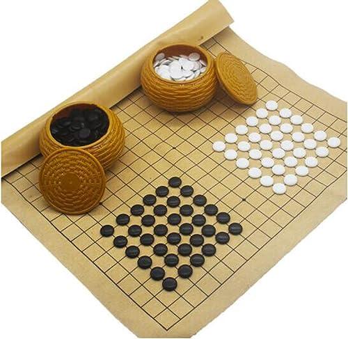 nuevo estilo Go Set, Send Leather Chessboard, Beginner 19 Road Large Large Large Go, Backgammon, Plastic Canister Portable Version (Color   A)  descuento de ventas en línea