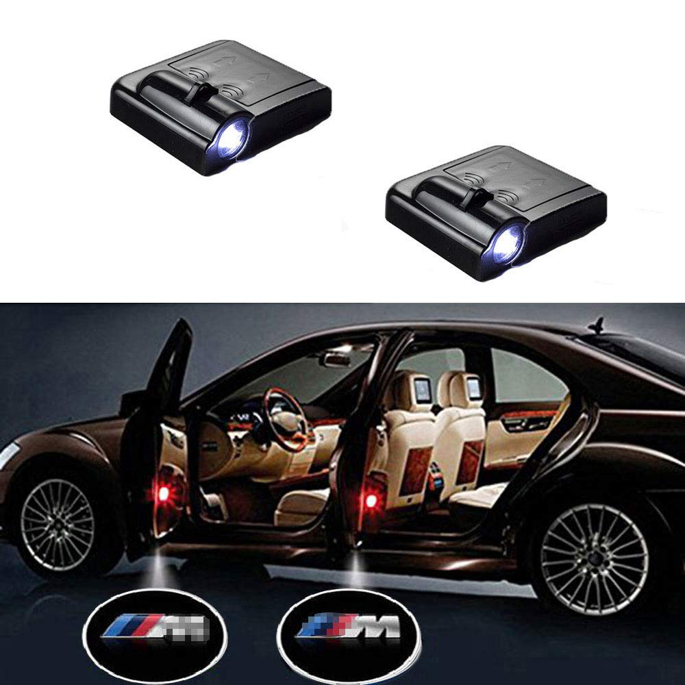 SYAUAWTO 4-Pack LED Car Door Light Ghost Shadow Light Logo Lighting Projector Welcome Lamp Courtesy Step Lights Running Board Light for BMW