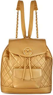 CHANEL Gold Quilted Lambskin Backpack (Pre-Owned)