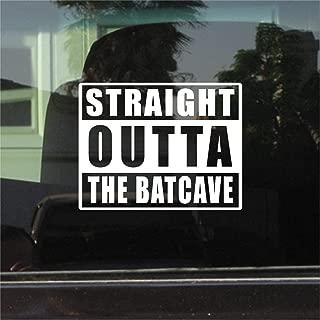 Straight Outta The Batcave Vinyl Sticker Set