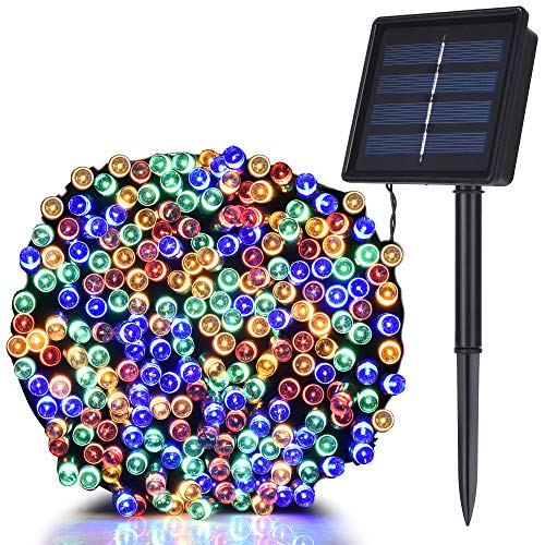 TEKLED Solar String Lights   200 LED Decorative String Lights   Waterproof Indoor Outdoor 72FT with Solar Panel   Multicolor   for Patio Garden Backyard Home Christmas Tree Party Gazebo Pergola