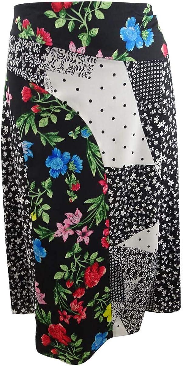 Calvin Klein Women's Angle Hem OFFer Houston Mall Skirt Printed