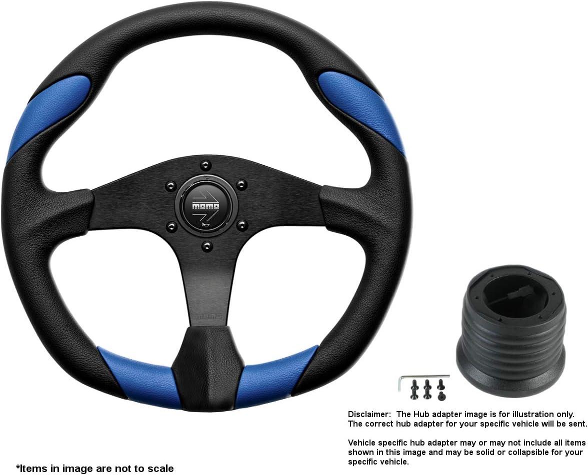 MOMO Quark Blue 350mm 13.78 Overseas parallel import regular item Inches Wheel Bl w Brushed depot Steering