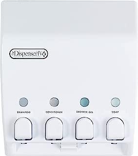 Better Living Products 71450 Classic 4-Chamber Shower Dispenser, White