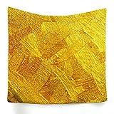 ANAZOZ Tapiz Tela Poliéster Tapiz Indio Patrón de Oro Oro Tapiz 180x230CM