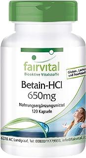 Betaína HCl 650mg - Dosis elevada - Clorhidrato