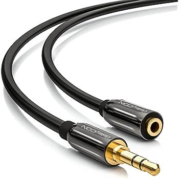 5m Audio Stereo Kopfhörer Verlängerungskabel 3,5mm Klinke Stecker /> Buchse Stoff
