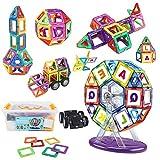 LBLA 112 Pezzi Arcobaleno Costruzioni Magnetiche Costruzione di Giocattoli Giocattoli Educativi Kit Sviluppare l'Intelligenza e la Memoria di Bambini