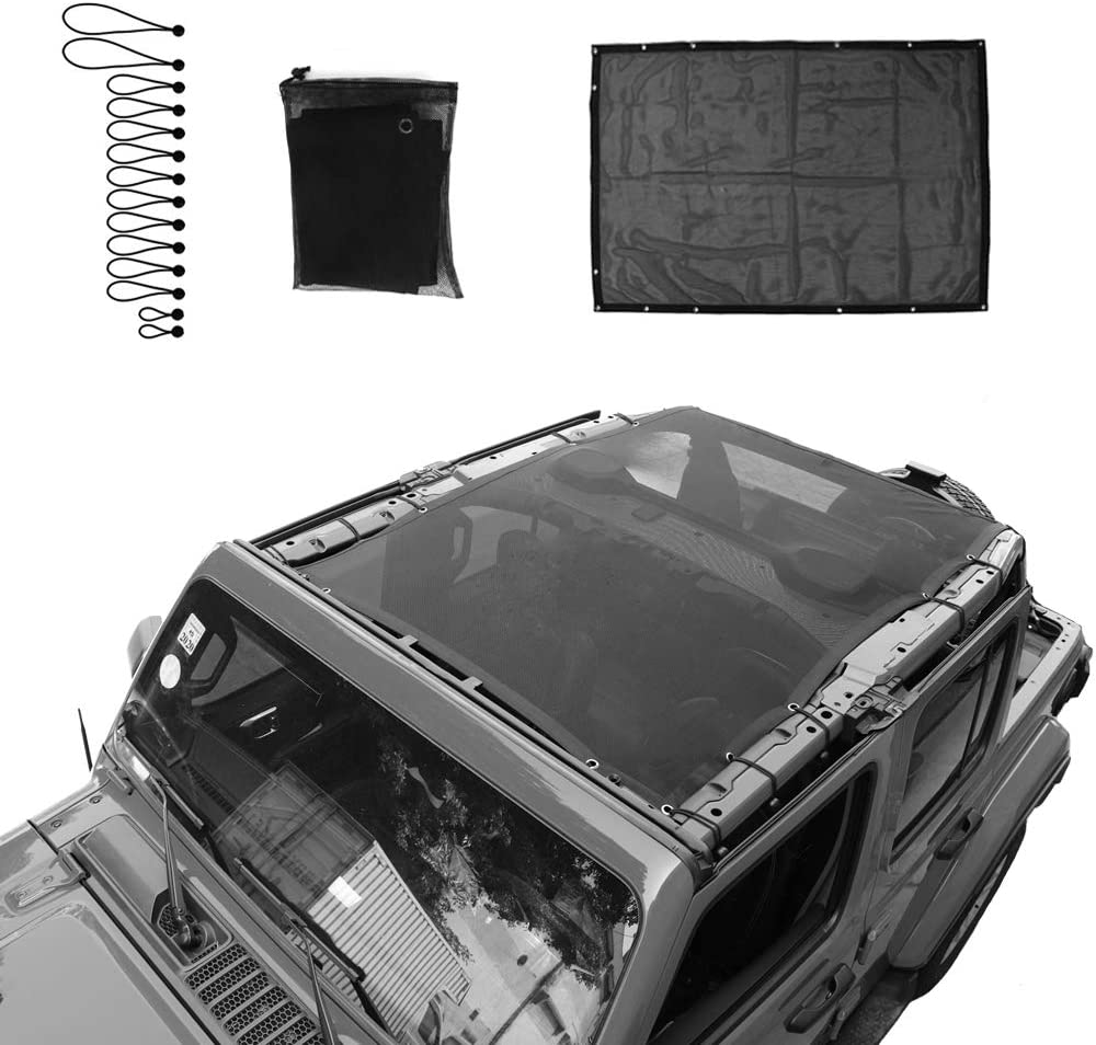 SEMTION Max 84% OFF Top Roof Mesh Sunshade Net JLU Jeep 4 for NEW before selling Wrangler Door
