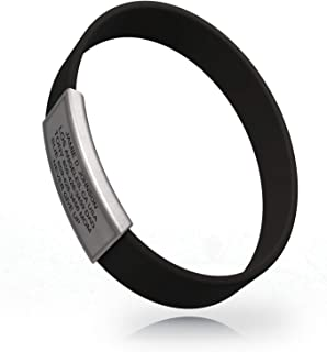 Road ID - Official ID Bracelet - The Wrist ID Stretch - 13mm Wide - Silicone Wristband - for Athletes - 5 Colors