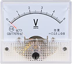 uxcell® DC 0-5V Analog Panel Voltage Gauge Volt Meter 85C1 2.5% Error
