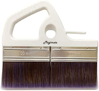 Magimate Large Paint Brush, 8 Inch, Wide Stain Brush for Floors, Doors, Wallpaper Paste and Decks, Soft Synthetic Filament with Ergonomic Handle