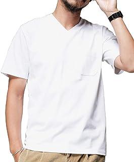 [ナノユニバース] Anti Soaked ヘビー Vネック Tシャツ メンズ