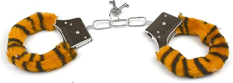 EVEDOUB Adjustable Yellow Leopard Print Leather Handcuffs Wrist