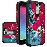 LG Phoenix 2 Phone Case, LG K7 Case, LG Treasure LTE Case, LG Tribute 5 Case Hard & Soft Sturdy Durable Hybrid Dual Layer Protective [ Anti Scratch ] Cover (Butterfly Bliss)