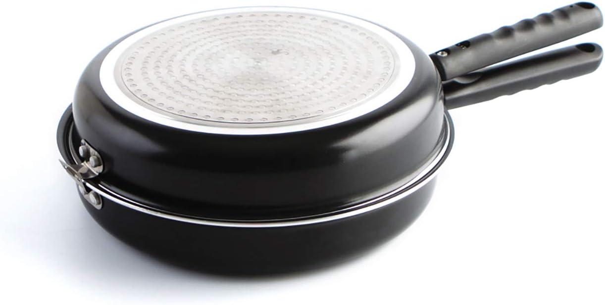 Quid Gastro Fun - Sartén doble para tortilla, 26 cm, aluminio estampado, color negro