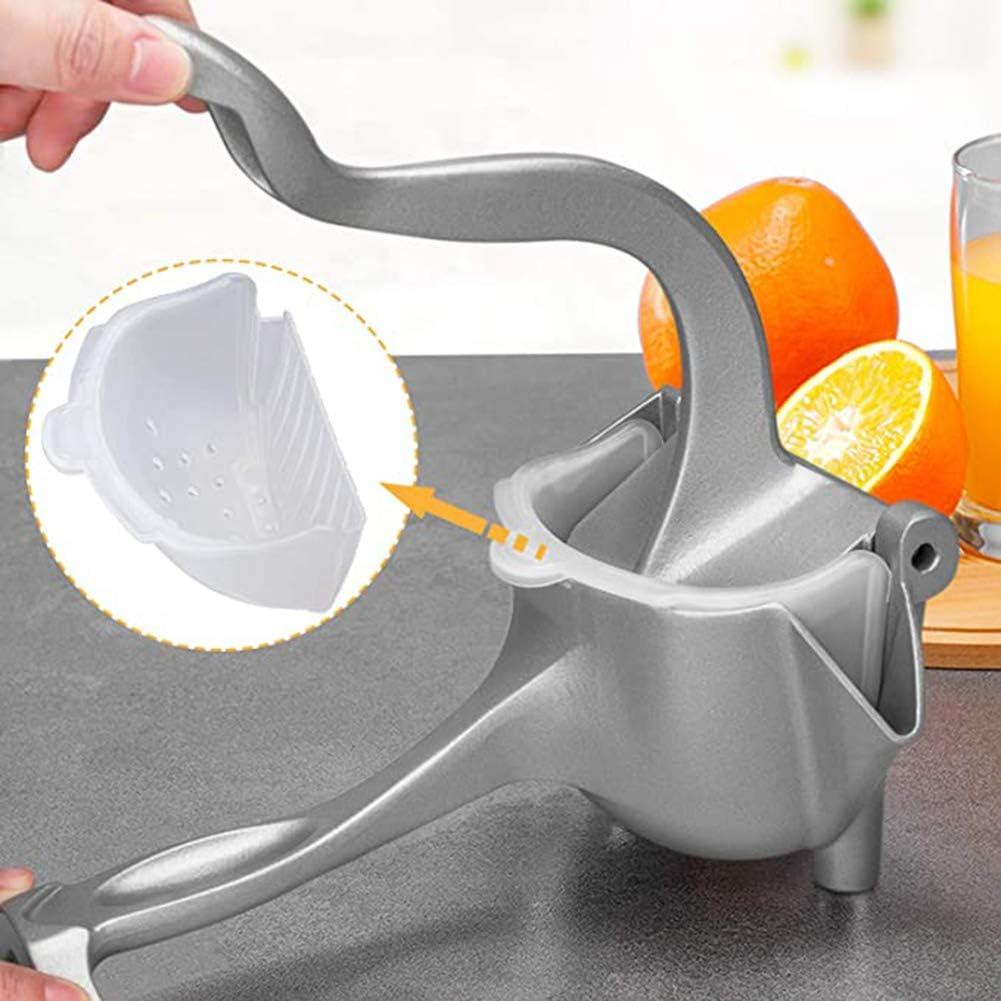 Juicer Manual Anaranjado del Limón Exprimidor con Herramienta De Apriete Manual De 2 Bolsas Filtrantes Aluminio Portable De Las Frutas Limón Naranja,Blanco Brass