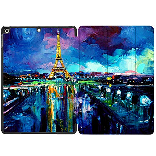 SDH Case for iPad 10.2 Inch 2019, Microfiber Lining Hard Back Shell with Auto Wake/Sleep, Slim Lightweight Trifold Smart Stand Cover for iPad 7th Generation 10.2' 2019,Landscape Painting15