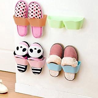 Yosoo 4 PCS Creative Plastic Wall Mounted Shoes Rack for Entryway Over The Door Shoe Hangers Organizer Hanging Shoe Storag...