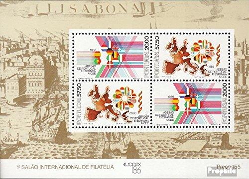 Prophila Collection Portogallo Block 52 (Completa Edizione) 1986 Comunità Europea (Francobolli per i Collezionisti)