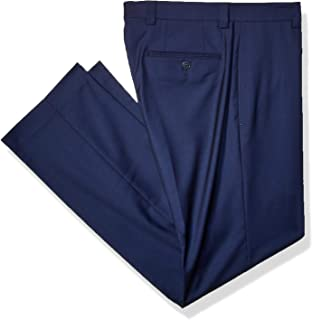 mens navy wool trousers