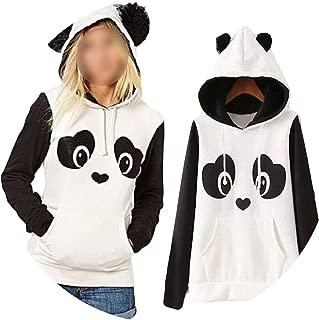White Island Women Hoodies Cartoon Panda Sweatshirts Casual Printed Mixed Color Harajuku Tracksuits Female Sudaderas