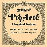 D'Addario ダダリオ クラシックギター用バラ弦 プロアルテ G-3rd J4403C Composites 【国内正規品】
