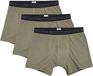Godsen Men's 3-Pack ComfortSoft Boxer Briefs Underwear Waistband