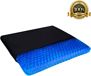 Angushy Gel Seat Cushion, 1.65inch Double Layer Egg Gel Cushion for Pressure Relief, Breathable Wheelchair Cushion Chair Pads with Non-Slip Cover for Car Seat Office Chair Wheelchair