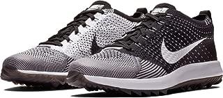 Men's Flyknit Racer G Golf Shoes (9.5 M US, Black/White)