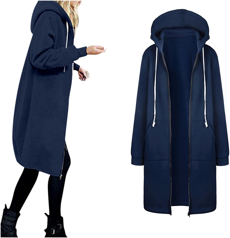 Womens Parka Coat With Fur Hood Warm Hoodie Floral Print Zipper Plush Pockets Cardigan Coat Long Outerwear Windbreaker