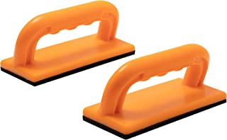 Safety Push Block 2 Pack, Safety Orange Color for High Visibility Ideal for Use On Router Tables, Jointers, Shapers and Band Saws
