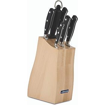 Acero/_Inoxidable Negro Est/ándar Arcos Juego de Cuchillos de Cocina
