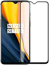 Rexez Full HD Display Fit Case Friendly, Black Rim OG, Easy Install Tempered Glass Screen Guard for Oneplus 7T (Transparent)