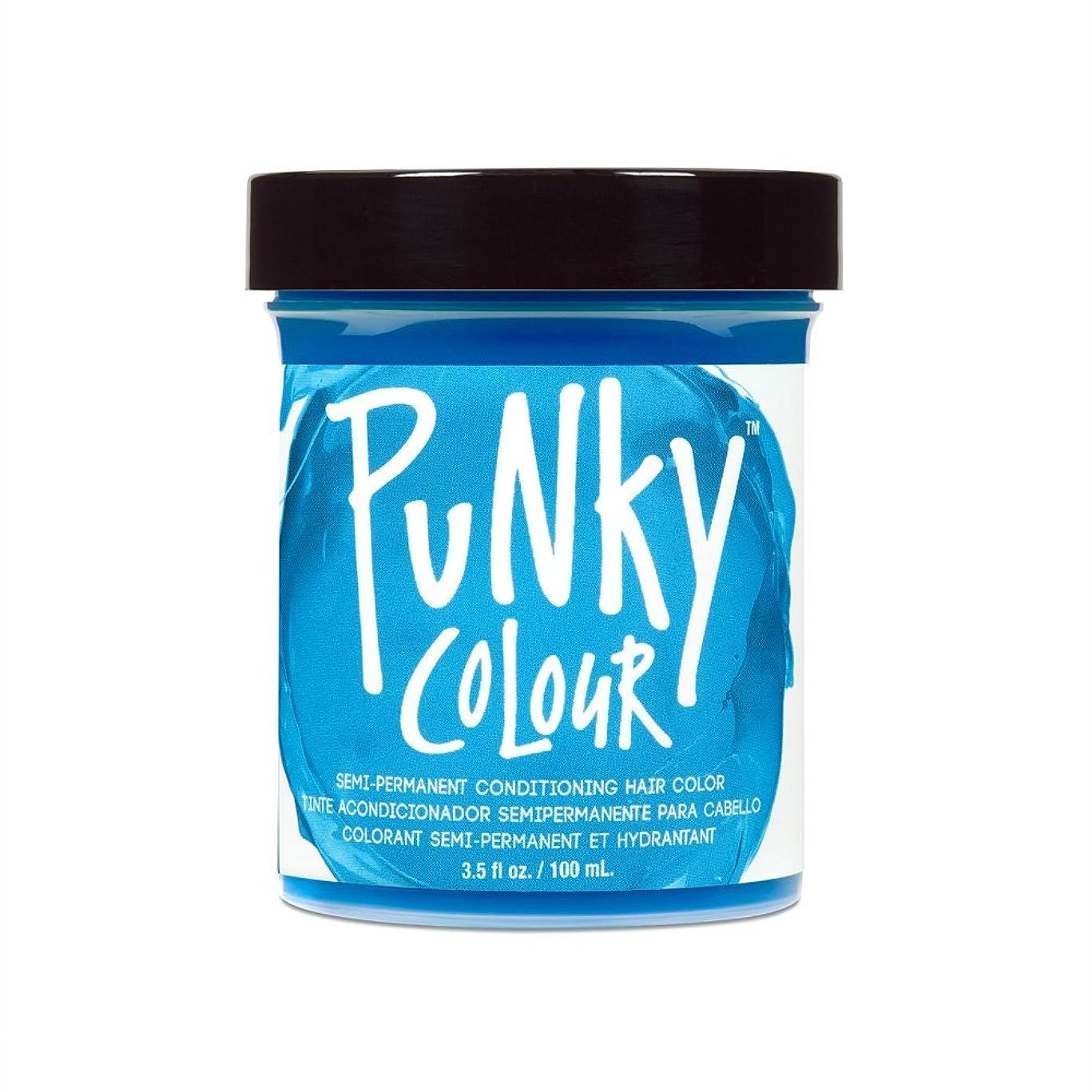 作曲するサイレント整理する(3 Pack) JEROME RUSSELL Punky Color Semi-Permanent Conditioning Hair Color - Lagoon Blue (並行輸入品)