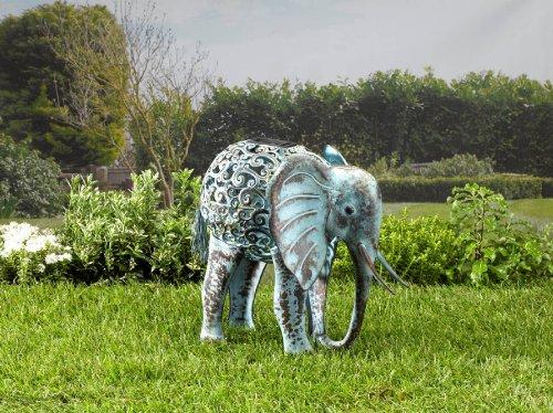 Smart Solar Ornamental Metal Elephant Solar Light