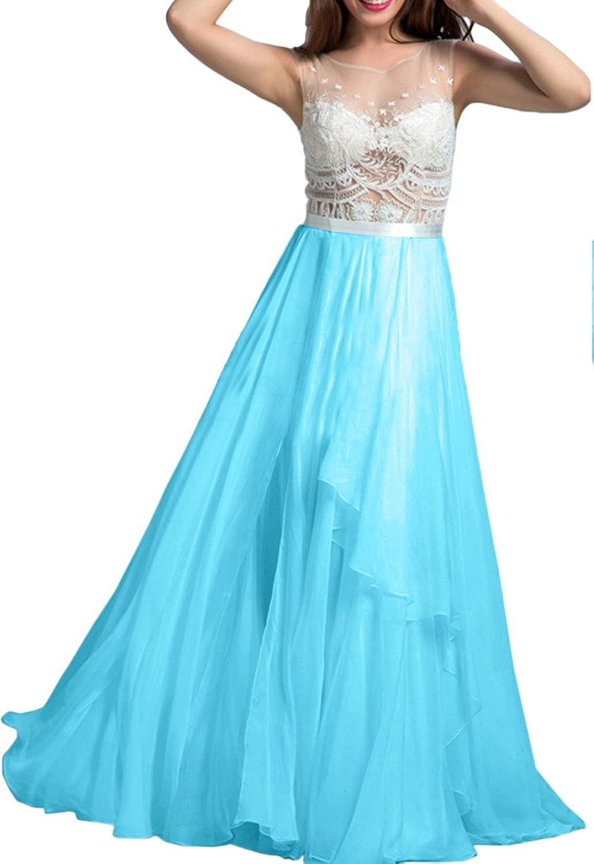 Avril Dress Sleeveless SeeThrough Applique Prom Party Dress Floor Length