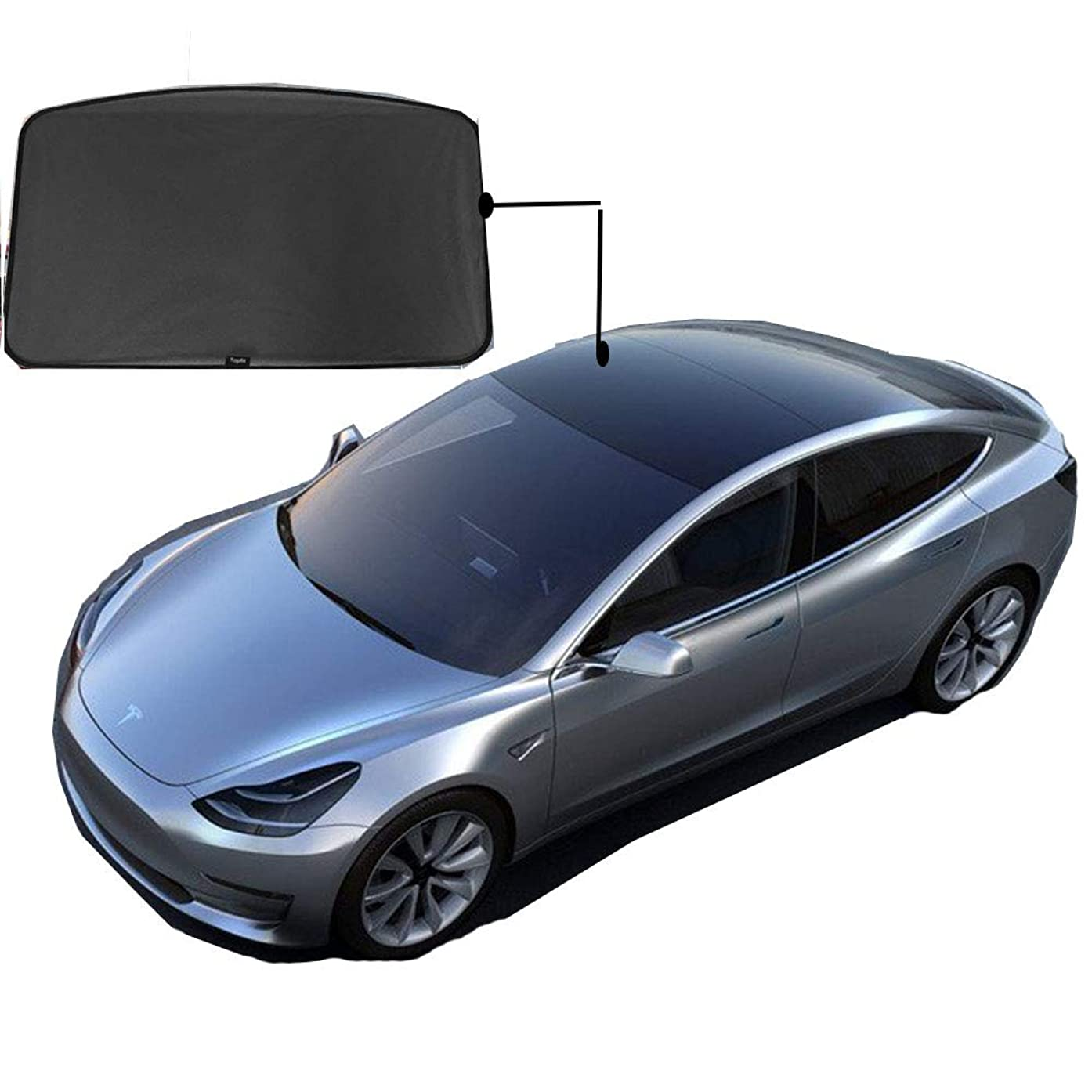 EVFIT Car Windows Sunshade Customize Tesla Model 3 Accessories