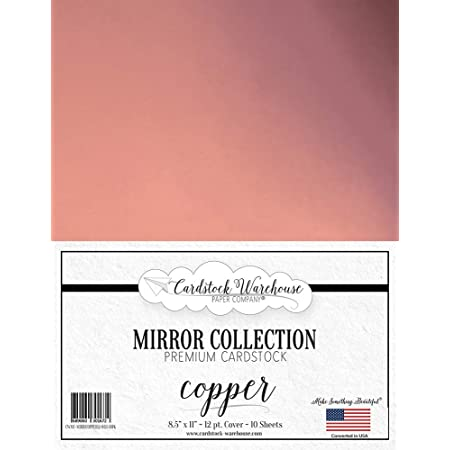 Mirror Rose Gold Mirricard Premium Cardstock 8.5 x 11 100lb//12 pt from Cardstock Warehouse-10 Sheets