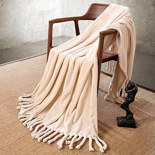 Global- 127 * 152cm Personne seule loisirs couverture Climatisation couverture siesta couverture bureau loisirs couverture acrylique fibre feuilles couverture de lit ( couleur : #3 )