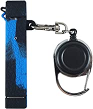DSC-Mart Texture Silicone Case v2 with Leash for JUUL, Kaychain Anti-Loss Holder Compatible with Juul V2 Pen (BlackBlue)