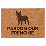 Coir Door Mat Entry Doormat Pardon Our Frenchie French Bulldog
