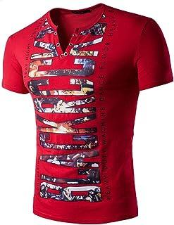 iSovze Fashion Mens Summer Loose Casual Daily Plaid Short-Sleeved Pocket Shirt