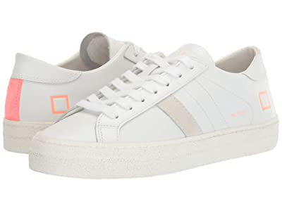 D.A.T.E. Hill Low (White/Coral) Women