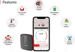 Nimble Wireless RV PetSafety Pet Environment Temperature Monitor - Monitor pet's Environment Temperature in r(Bundled with Manual Instructions)