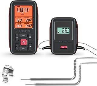 Inkbird IRF-2SA Termometro Wireless Remoto per la Cottura di Barbecue, Forno, Affumicato, Griglia Fino a 300M (IRF-2S+ 2 S...