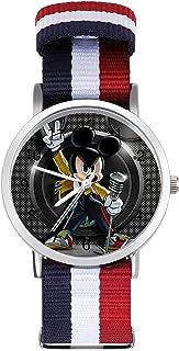 Reloj de ocio para adultos Mickey Mouse Rock, moderno, bonito y personalizado, de aleación, casual, deportivo, para hombre...